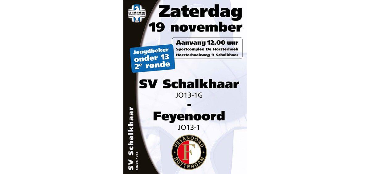 SV Schalkhaar JO13-1G - Feyenoord JO13-1